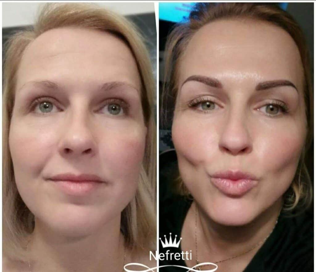 Makijaż permanentny brwi Szczecin Nefretti