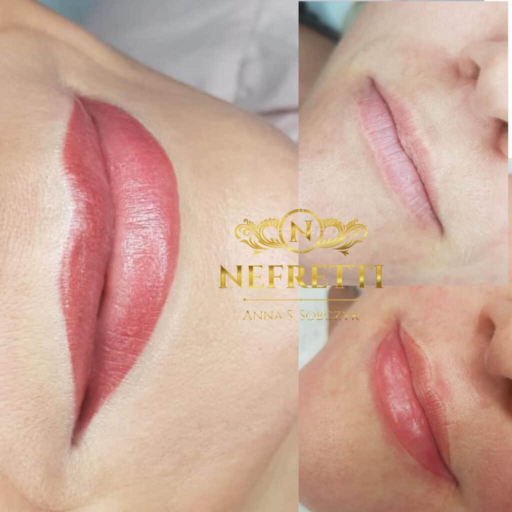 Makijaż permanentny ust Nefretti Szczecin